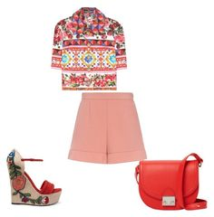 """""""Untitled #86"""" by kamishiro-rize on Polyvore featuring Dolce&Gabbana, RED Valentino, Gucci and Loeffler Randall"""