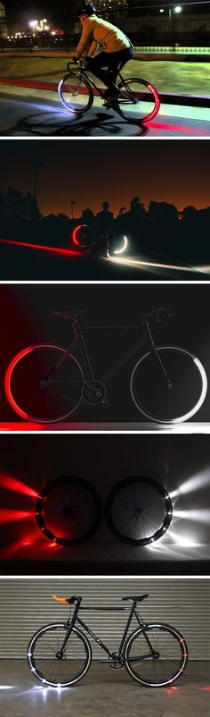 The entire concept of the Revolights sounds fascinating. A headlamp, and a tail-lamp, within the wheel of your bicycle itself! How it works is even more fascinating. Rather than illuminating your enti(Cool Gadgets)