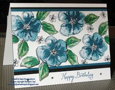 Simply Sara Stampin': Stampin' Up! ~ Penned & Painted Birthday