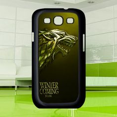 Cool Game of throne Stark clan family wolf gold by MuliasCraft, $16.00 Galaxy S3 Cases, Samsung Galaxy S3, Fun Games, Wolf, Cool Stuff, Cool Games, Wolves