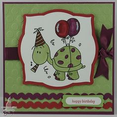 Cat's Ink.Corporated: Pals Paper Arts #79 - Party Turtle