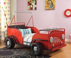 Casper Metal Twin Bed in Red by Acme Furniture