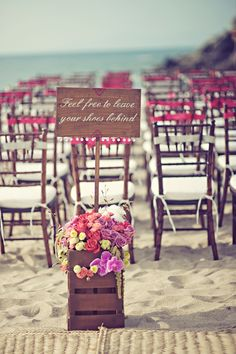 From a beach wedding.