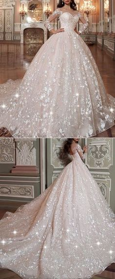 Attractive Tulle & Organza Scoop Neckline Ball Gown Wedding Dress With Lace Appliques & Beadings NEW! Attractive Tulle & Organza Scoop Neckline Ball Gown Wedding Dress With Lace Appliques & Beadings Princess Wedding Dresses, Dream Wedding Dresses, Bridal Dresses, Wedding Shoes, Wedding Ball Gowns, Tulle Wedding, Wedding Dresses With Bling, Queen Wedding Dress, Arabic Wedding Dresses