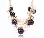 Náhrdelník perly černobílé #sperky #jewelry #nahrdelnik #necklace