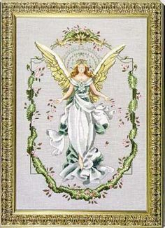 Angel Of The New Dawn is the title of this cross stitch pattern from Mirabilia.