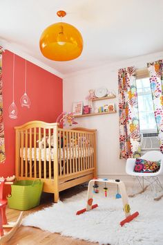 What a fun and colorful nursery!