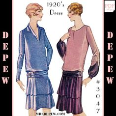Moda Art Deco, Art Deco Fashion, Vintage Fashion, Fashion Design, Motif Vintage, Vintage Style, 1920s Dress, Flapper Dresses, Vintage Dress