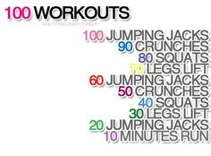 Twitter / FlTNESSpics: The 100 work out ...