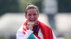Éva Risztov - Swimming Women's 10km Marathon   Gold Medalist.  photo: london2012.com