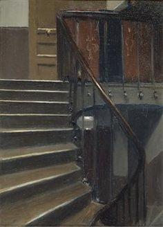 Stairway at 48 rue de Lille Paris - Edward Hopper - 1906
