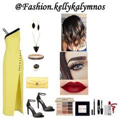 Fashion set Beauty in yellow created via Dress Styles, Art Decor, Yellow, Creative, Face, Beauty, Design, Fashion, Moda