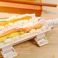 Amazon.com: Sushi Bazooka, Sushi Mat and Two Sets of Bamboo Chopsticks and Silicone Helper (Training) Chopsticks, Cook&Life, Kitchen Appliance Machine Rice Roller Making Kit: Kitchen & Dining
