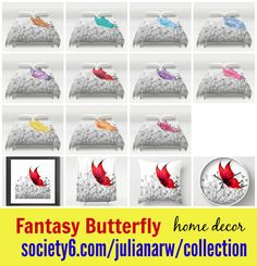 Pretty beautiful #fantasy #butterfly #duvetcover #showercurtain #pillow in 11 colors & different #homedecor products. Detail: society6.com/julianarw/collection
