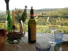 Wine with a view in Tuscany, Italy!