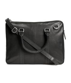 Check this out! PREMIUM QUALITY. Bag in thick leather with two handles, detachable adjustable shoulder strap, zip at top, and one inner compartment with zip. Lined. Size 3 1/4 x 11 3/4 x 15 3/4 in. - Visit hm.com to see more.
