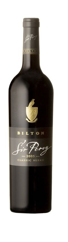 """Bilton """"Sir Percy"""" classic Bordeaux-style wine South African Wine, Liquid Gold, Wine Bottles, Label Design, Wine Recipes, Bordeaux, Red Wine, Alcoholic Drinks, Classic"""