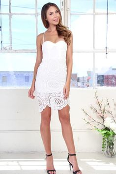 Ariel Lace Dress - White