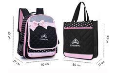 Kids Waterproof Schoolbag Girls Backpack Primary Students Tutorial Bag Bowknot Handbag Online - NewChic