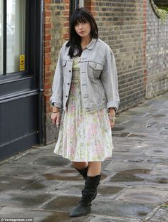 Fashion forward: Daisy Lowe, who's set to appear on the new series of Strictly Come Dancing, soaked up the recent British heatwave in a floral midi sun-dress in London on Sunday