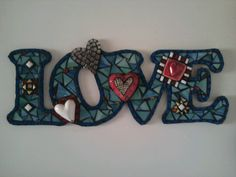 Mosaic word *Love*