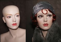 Vintage mannequin redone in the 20's style