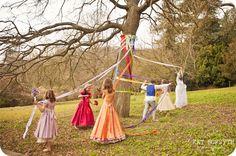 maypole wedding, what fun for the children....or big kids alike