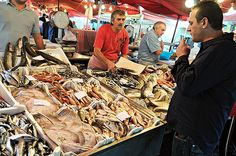 Fish display - Fish market - Catania