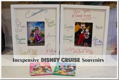 Inexpensive Disney Cruise Souvenirs that won't make you look like a cheapskate and are priceless.