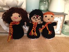Harry Potter Trio by NannysKnotsnClocks on Etsy