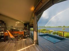 Suite 2 at Abu Camp in Botswana comes with a private pool.