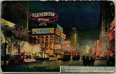 Night Sights, Vintage Postcards, Night Time, New York City, Times Square, Im Not Perfect, United States, Scene, World