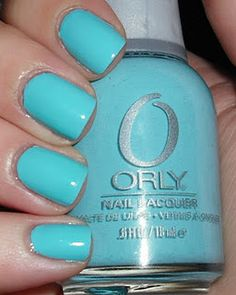 tiffany blue nails <3 I am sooooo gonna have my nails painted this color when I get married<3 ~ B