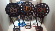 dirt bike sprocket trophies