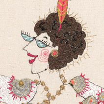 'Loula Hoola', contemporary embrodery by Louise Gardiner