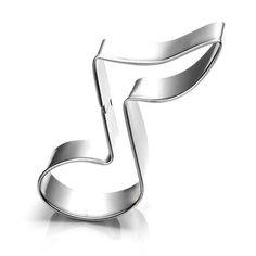 0.60€ Casa DIY de la Galleta Mini Molde de Acero Inoxidable Notas Musicales Símbolo Fondant Molde de la Torta de Pan de Molde Cortador de Galletas