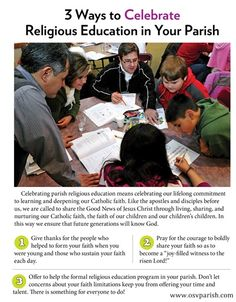 Celebrate Religious Education Week! Nov.3-9