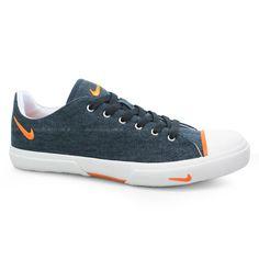 Tenis Masculino Nike Biscuit Canvas Jeans/Laranja