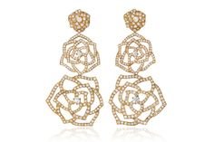 Pink gold and diamond Rose earrings, worn by Sarah Paulson at the 86th Annual Academy Awards.