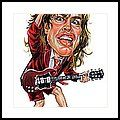 Angus Young Framed Print by Art