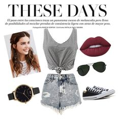 """Beauty"" by jasarevic-merima-zivadinka ❤ liked on Polyvore featuring River Island, Converse, Ray-Ban, REGALROSE, Lime Crime and Olivia Burton"