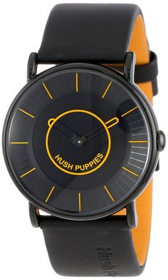 Hush Puppies Men s HP.3680M.2518 Freestyle Black Ion-Plated Coated  Stainless Steel Genuine Leather Watch  9001298ab4