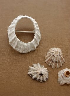 LIMPET SHELL Sterling Silver Brooch.