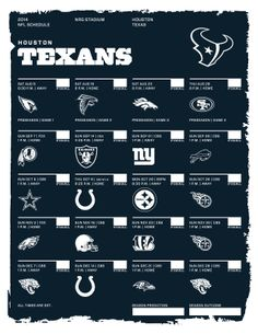 Houston Texans 2014 NFL Schedule