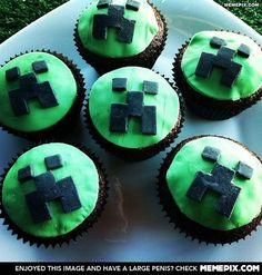Minecraft Cupcake! Boys would love these.Please check out my website thanks. www.photopix.co.nz