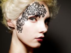 I am kind of in the mood for a tatoo! =)  #Face #girl #portrait #art #design