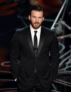 Chris Evans presenting at the Oscars 2014
