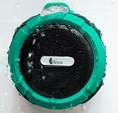 Fenix Wireless Waterproof Bluetooth 30 Shower  Outdoor 5W Speaker  Built in Mic with Control Buttons Carabiner Clip and Detachable Suction Cup for iPhone iPad Samsung Galaxy LG HTC Tablets MP3 Players iPods and More * Want to know more, click on the image.