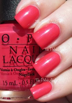OPI Couture de Minnie Collection Swatches  pinky/redy with a bit of a shimmer. very pretty