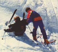 All skiers fall down?: and down she went!